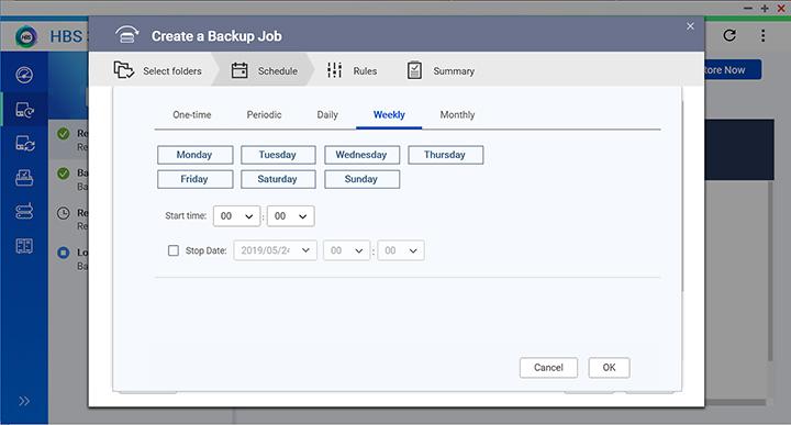 Flexible job schedulingThiết lập nhiều kế hoạch backup định kỳ cho công việc hoặc thực hiện 1 lần và 1 thời gian nhất định. Chúng ta cũng có thể sắp xếp các tác vụ bằng thủ công